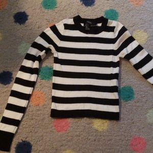 Ribbed striped Forever 21 sweater